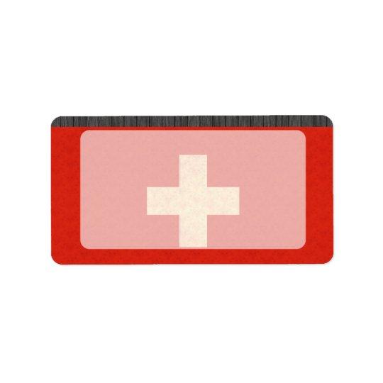 Drapeau vintage de Suisse de motif Étiquettes D'adresse