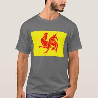 Drapeau wallon de région t-shirt