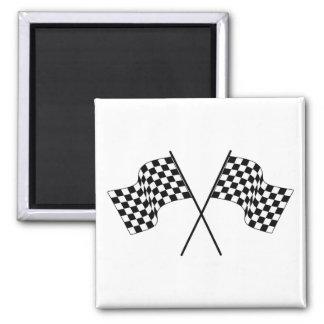 Drapeaux courses de voiture drapeaux car racing magnets pour réfrigérateur