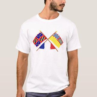 Drapeaux croisés de la Bourgogne et de Côte-d'Or T-shirt