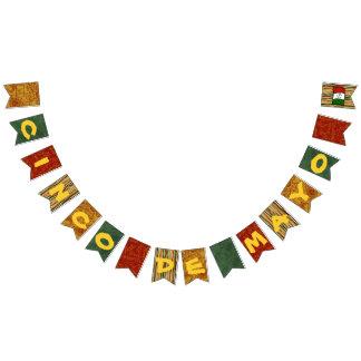 Drapeaux de bannière d'étamine de fiesta de Cinco