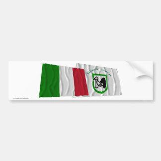 Drapeaux de ondulation de l Italie et de la Marche Autocollants Pour Voiture