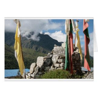 Drapeaux de prière au Népal Carte