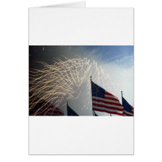 drapeaux et feux d'artifice carte