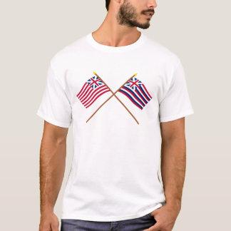 Drapeaux grands croisés de Lexington des syndicats T-shirt