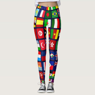 Drapeaux internationaux leggings