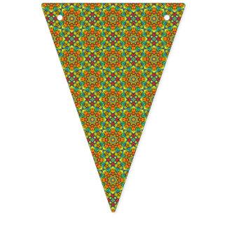 Drapeaux vintages colorés de kaléidoscope de rayon