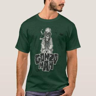 Drawing geek man smoking t-shirt