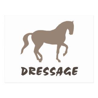 Dressage (cheval et texte de piaffe) carte postale