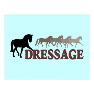 Dressage de Sidepass (noir/Bourgogne) Carte Postale