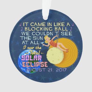 Drôle américain solaire total d'éclipse le 21 août