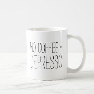 Drôle aucun hipst d'humour de bureau de Depresso Mug Blanc