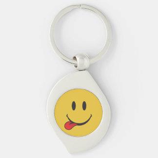 Drôle et mignon collant la langue Emoji Porte-clés