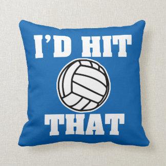 Drôle je frapperais que coussin de volleyball