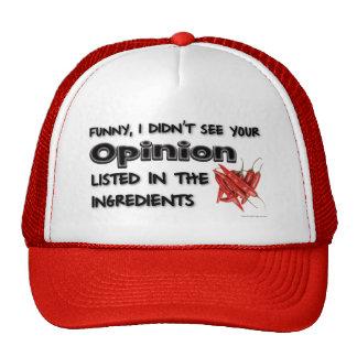 Drôle, je n'ai pas vu votre avis casquettes de camionneur