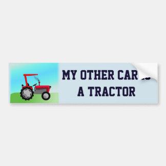 """Drôle """"mon autre voiture est un tracteur """" autocollant de voiture"""