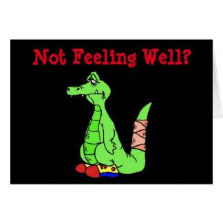 Drôle obtenez la carte bonne avec l'alligator