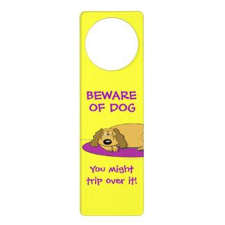 Drôle prenez garde du signe faisant une sieste de  affichettes de porte