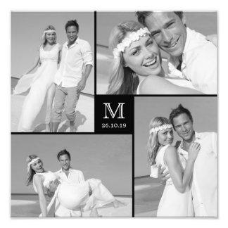 Druk van de Foto van het Huwelijk van het Monogram Foto Afdruk