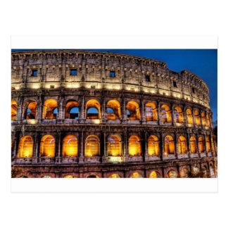 Du Colosseum romain avec amour Carte Postale