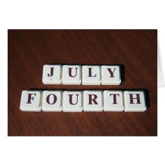 Du quatrième carte juillet