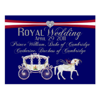 Duc de mariage et duchesse royaux de Cambridge Carte Postale