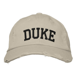 Duc Embroidered Hat Casquette De Baseball Brodée