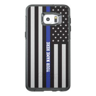Dun Blue Line - Amerikaanse Vlag Gepersonaliseerde OtterBox Samsung Galaxy S6 Edge Plus Hoesje
