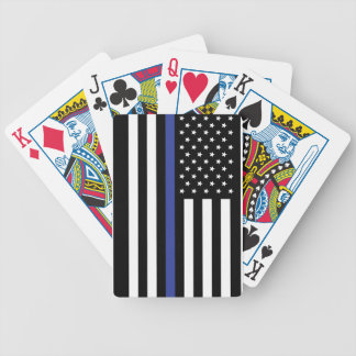 Dun Blue Line - Amerikaanse Vlag Gepersonaliseerde Pak Kaarten