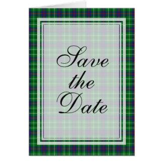 Duncan Tartan Save The Date Kaart
