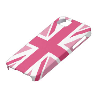~ d'Union Jack dans des roses Girly Coques iPhone 5 Case-Mate