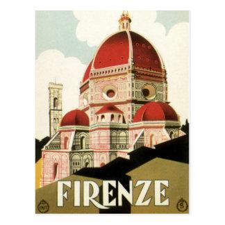 Duomo vintage d église de Florence Firenze Italie Carte Postale