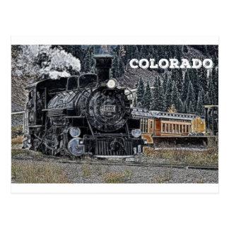 Durango 1881 et chemin de fer de mesure étroite de carte postale