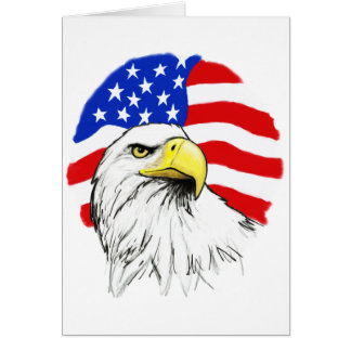 Eagle avec le drapeau carte