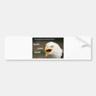 Eagle chauve américain avec le texte autocollant de voiture