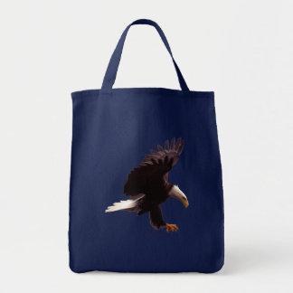 EAGLE CHAUVE débarquant le sac fourre-tout à