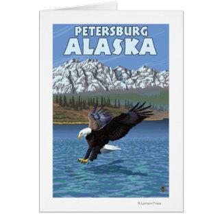 Eagle chauve plongeant - Pétersbourg, Alaska Carte