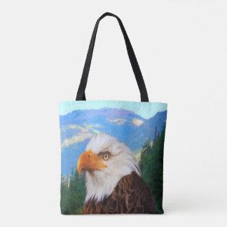 Eagle chauve tout plus de - imprimez le sac
