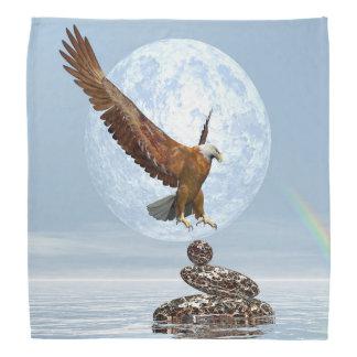 Eagle débarquant sur les pierres équilibrées - 3D Bandana