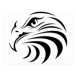 Eagle font face à la silhouette carte postale