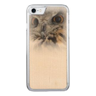 Eagle-hibou eurasien coque iphone 7 en bois