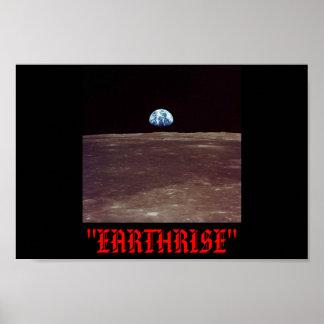 EARTHRISE OVER LUNA! POSTER