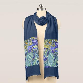 Écharpe Beaux-arts vintages floraux d'iris de Vincent van