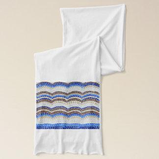 Écharpe bleue du Jersey de mosaïque