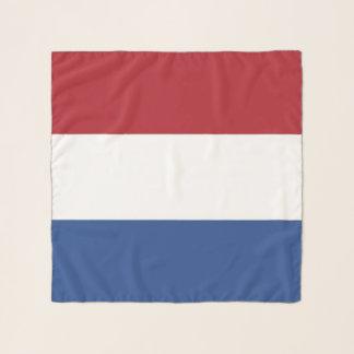 Écharpe carrée avec le drapeau de Pays-Bas