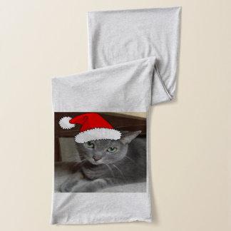 Écharpe Chat bleu russe de Kitty de Noël