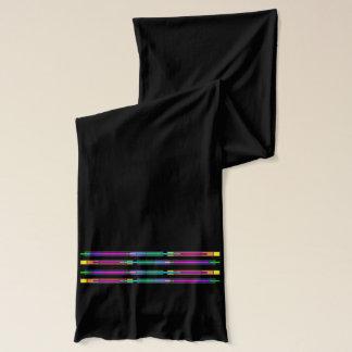 Écharpe Conception colorée en verre souillé