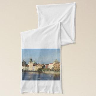Écharpe de blanc de République Tchèque de Prague