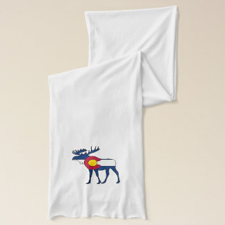 Écharpe de blanc d'orignaux de drapeau du Colorado
