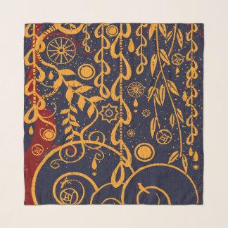 Écharpe de mousseline de soie de style de Nouveau